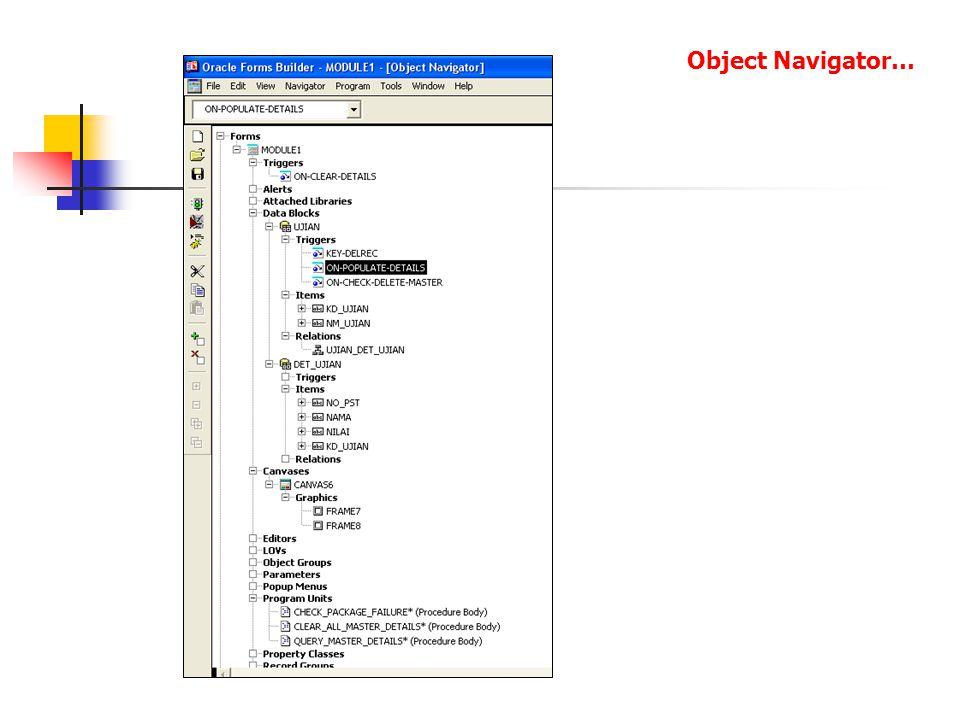 Object Navigator…