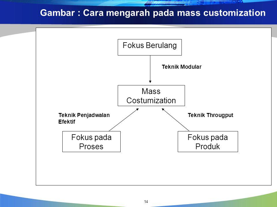 Gambar : Cara mengarah pada mass customization