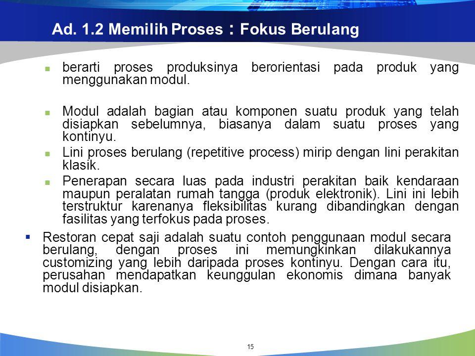 Ad. 1.2 Memilih Proses : Fokus Berulang