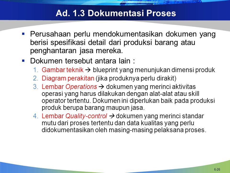 Ad. 1.3 Dokumentasi Proses