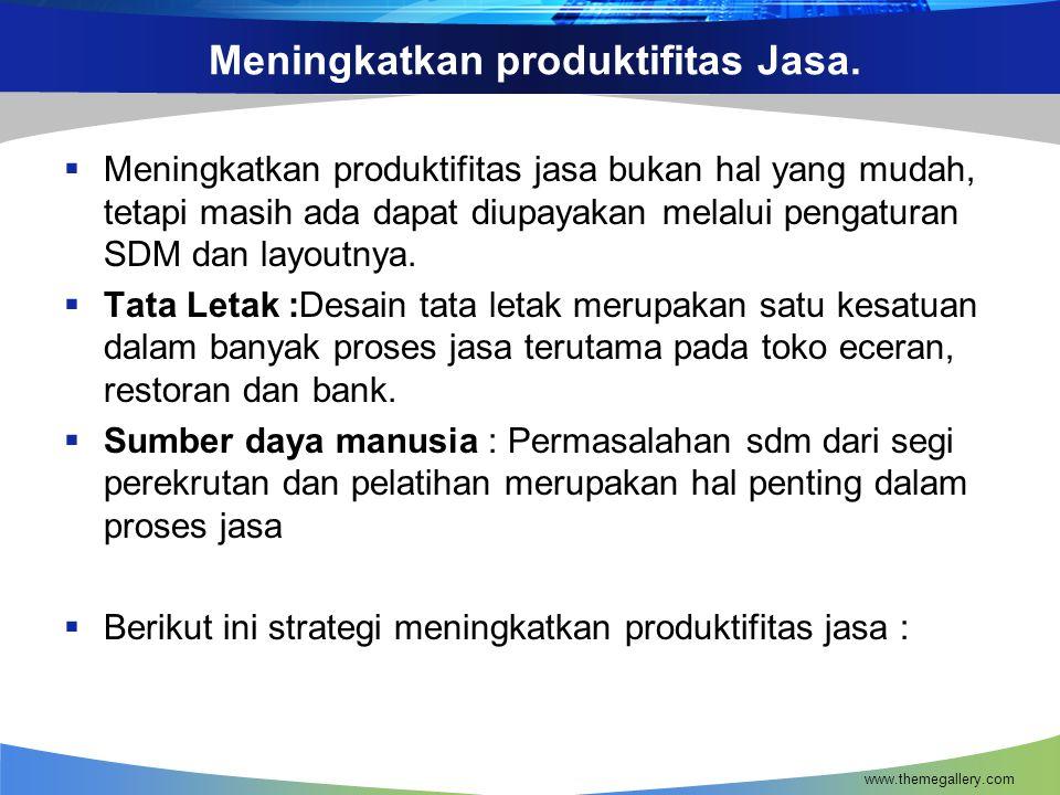 Meningkatkan produktifitas Jasa.