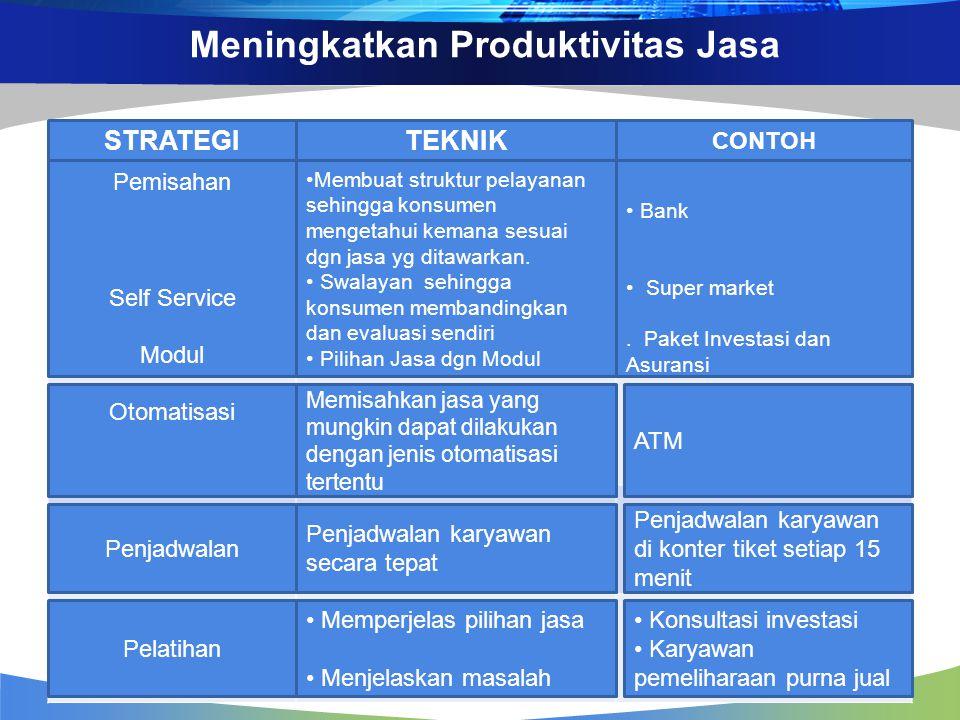 Meningkatkan Produktivitas Jasa