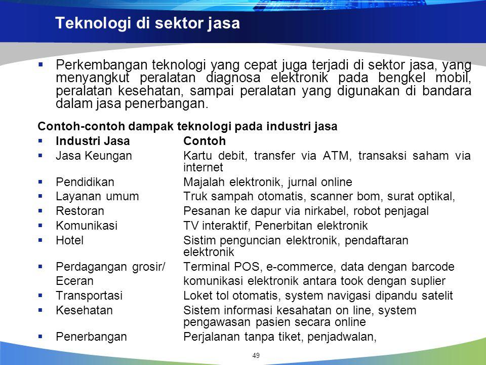 Teknologi di sektor jasa