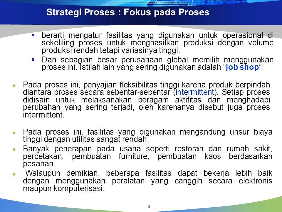 Strategi Proses : Fokus pada Proses