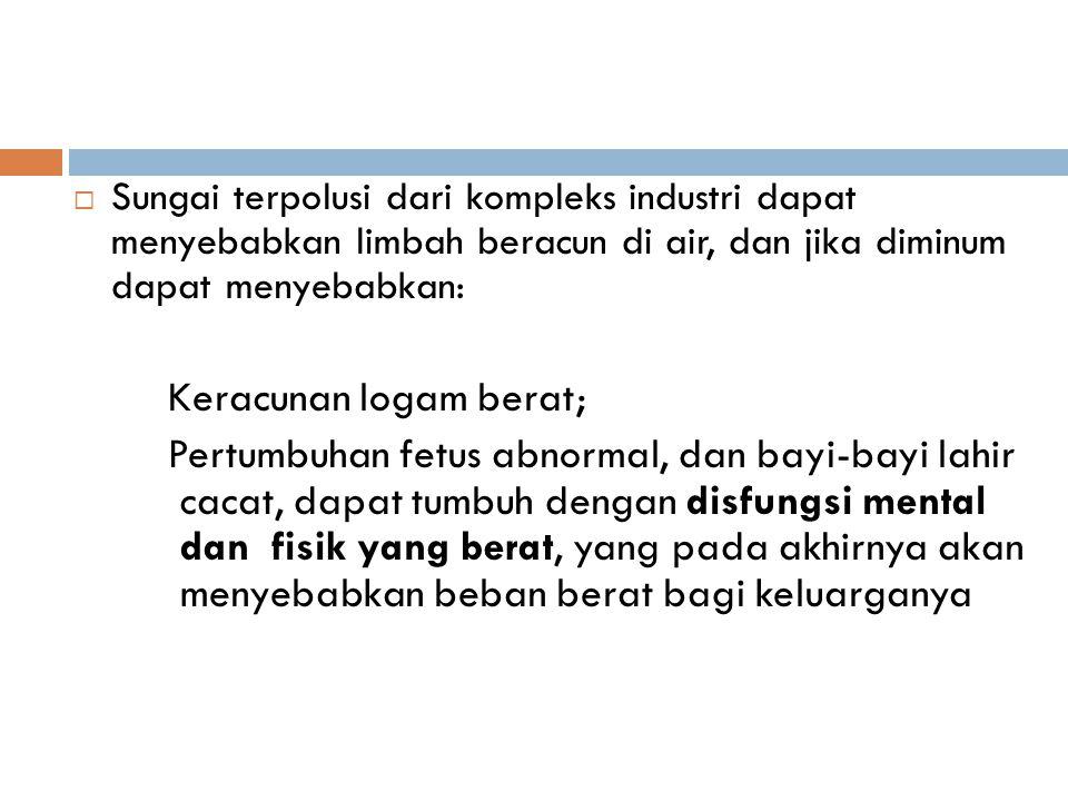 Keracunan logam berat;