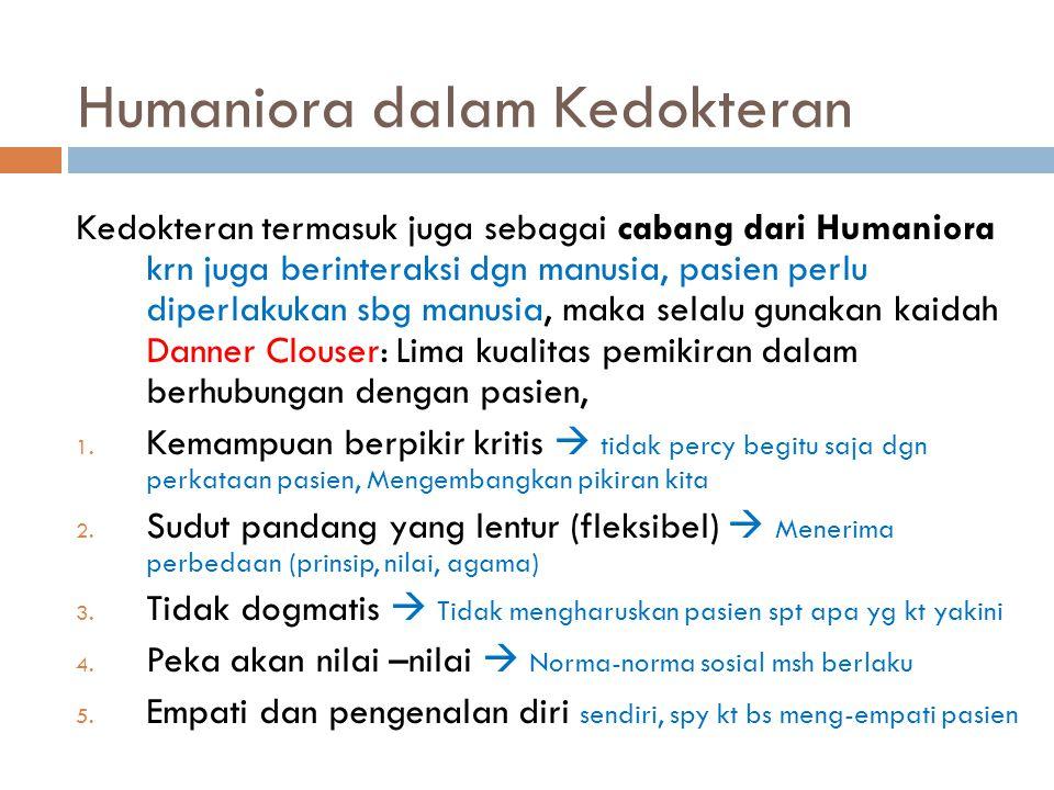 Humaniora dalam Kedokteran