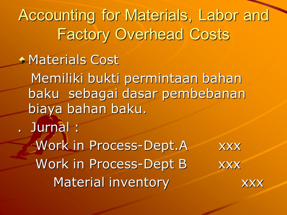 Accounting for Materials, Labor and Factory Overhead Costs