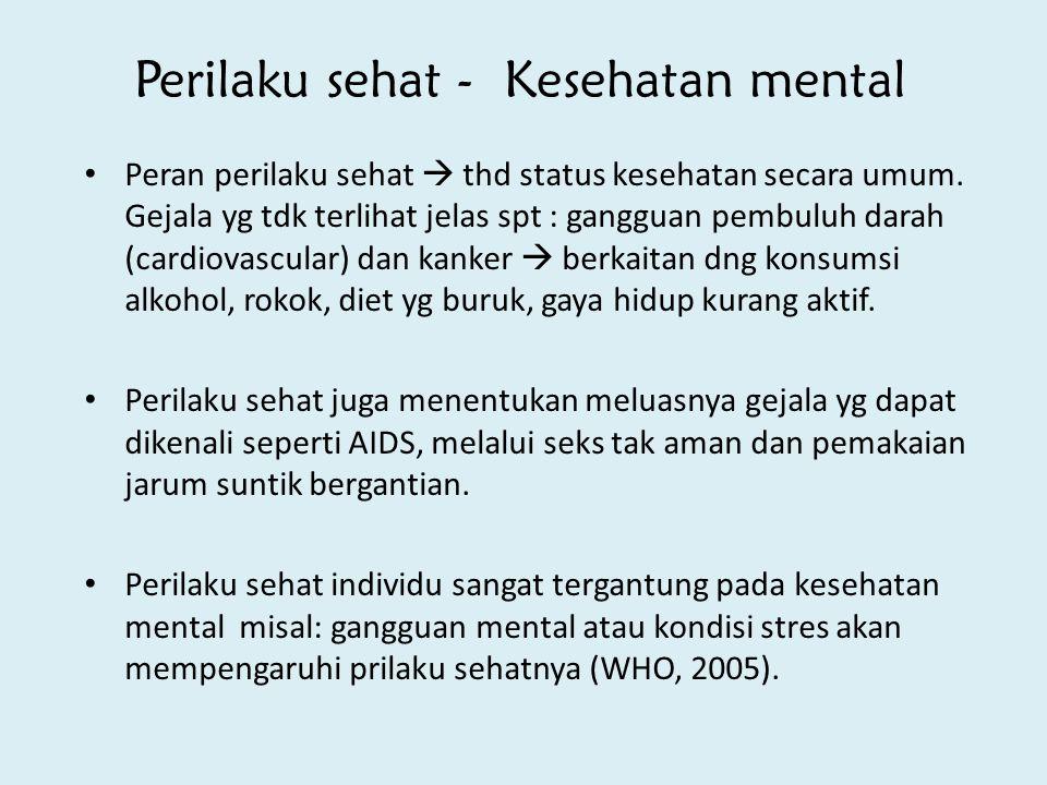 Perilaku sehat - Kesehatan mental