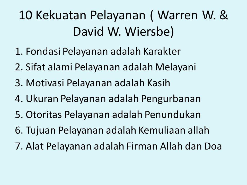 10 Kekuatan Pelayanan ( Warren W. & David W. Wiersbe)