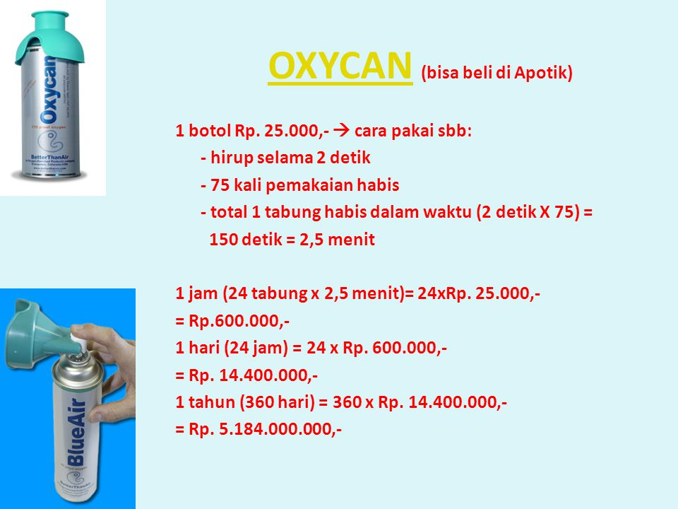 OXYCAN (bisa beli di Apotik)