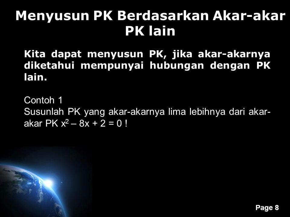 Menyusun PK Berdasarkan Akar-akar PK lain