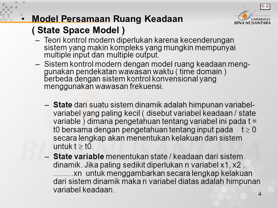 Model Persamaan Ruang Keadaan ( State Space Model )