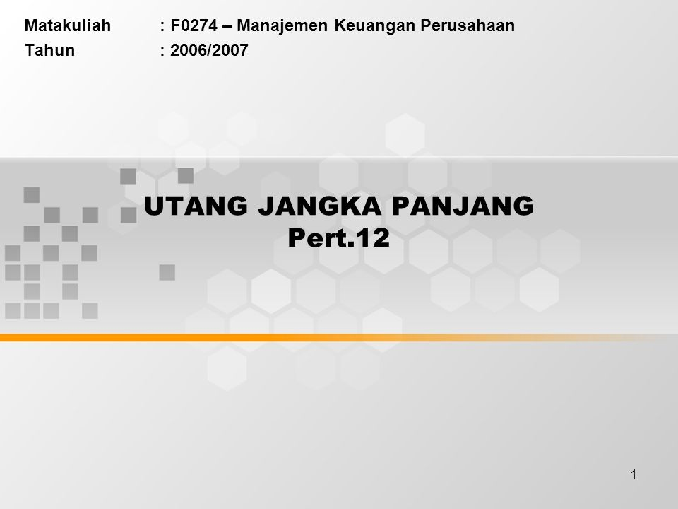 UTANG JANGKA PANJANG Pert.12