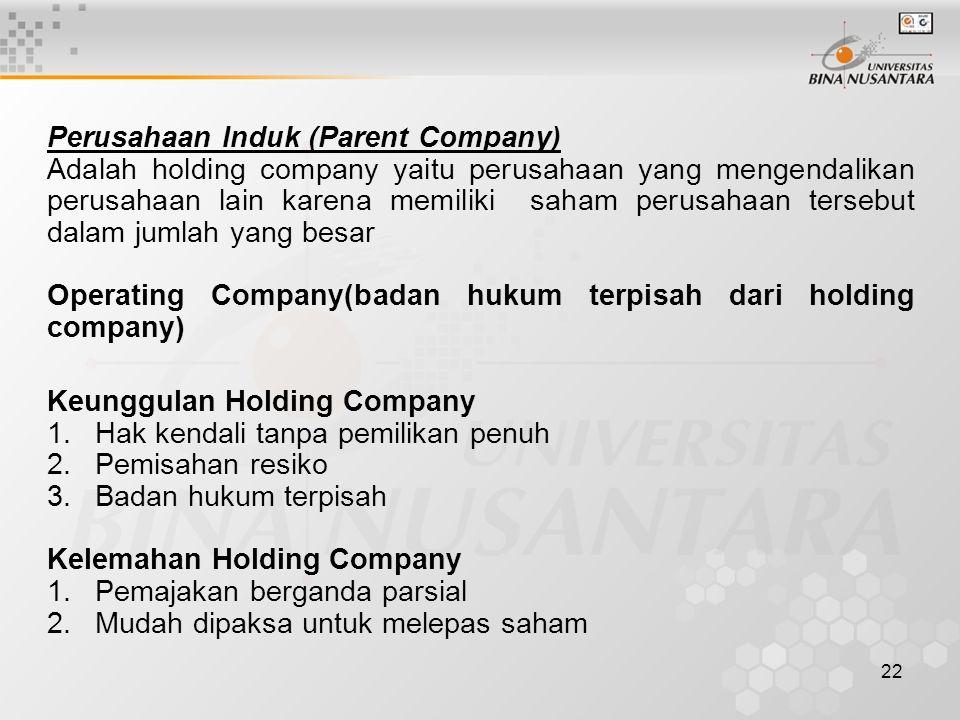Perusahaan Induk (Parent Company)