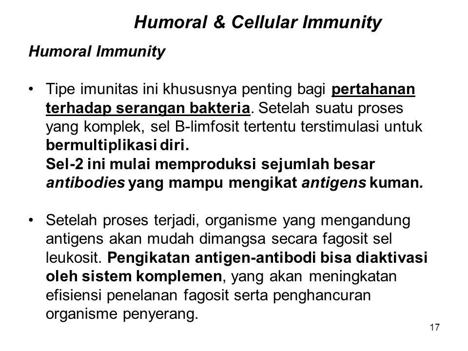 Humoral & Cellular Immunity