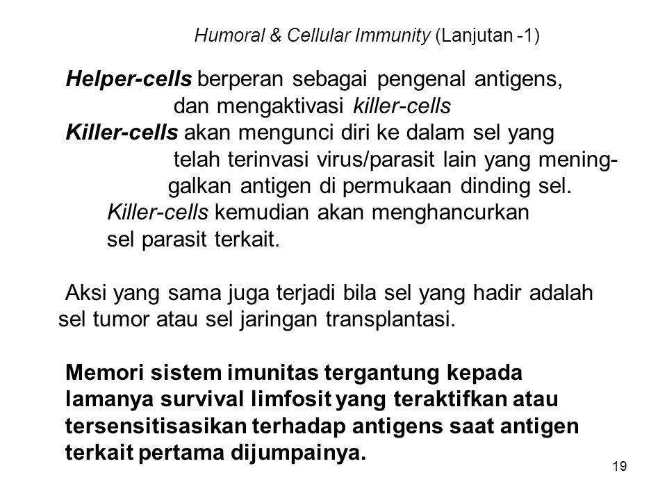 Humoral & Cellular Immunity (Lanjutan -1)