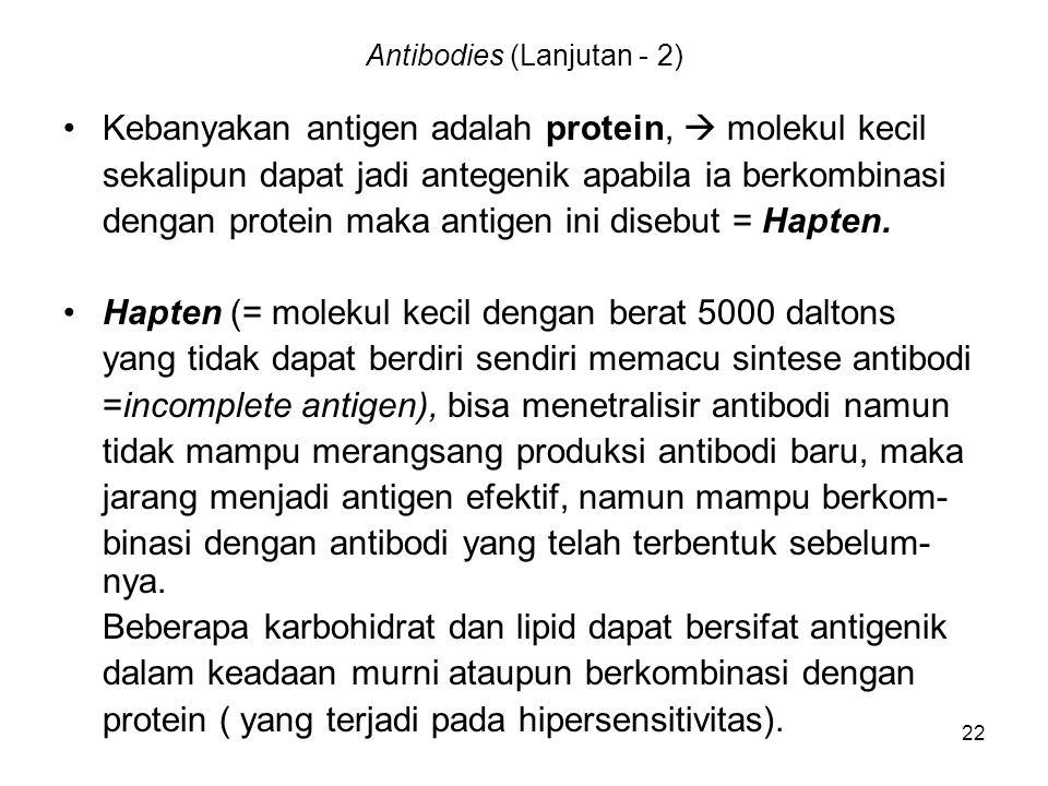 Antibodies (Lanjutan - 2)