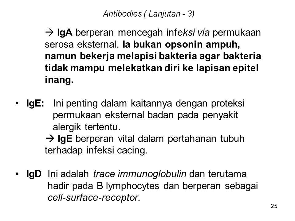 Antibodies ( Lanjutan - 3)