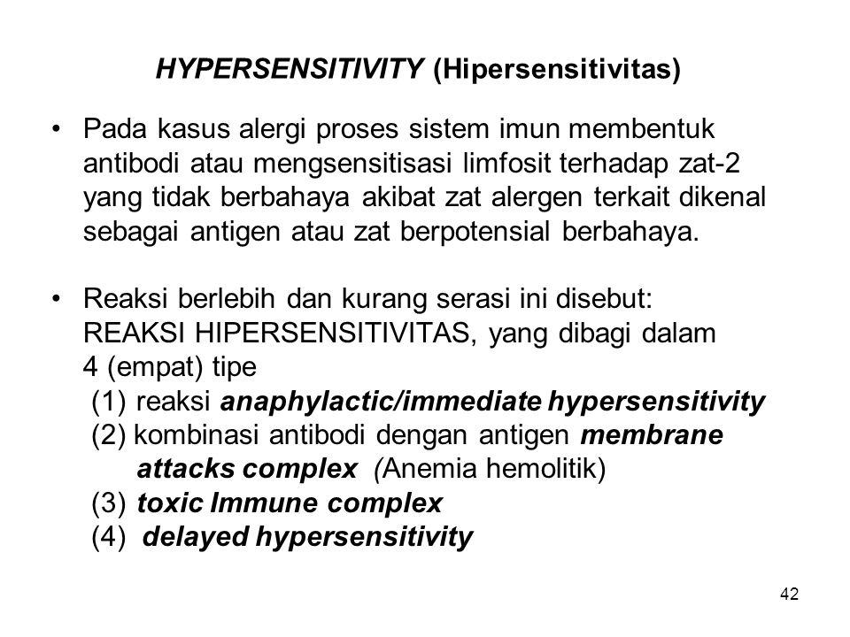 HYPERSENSITIVITY (Hipersensitivitas)
