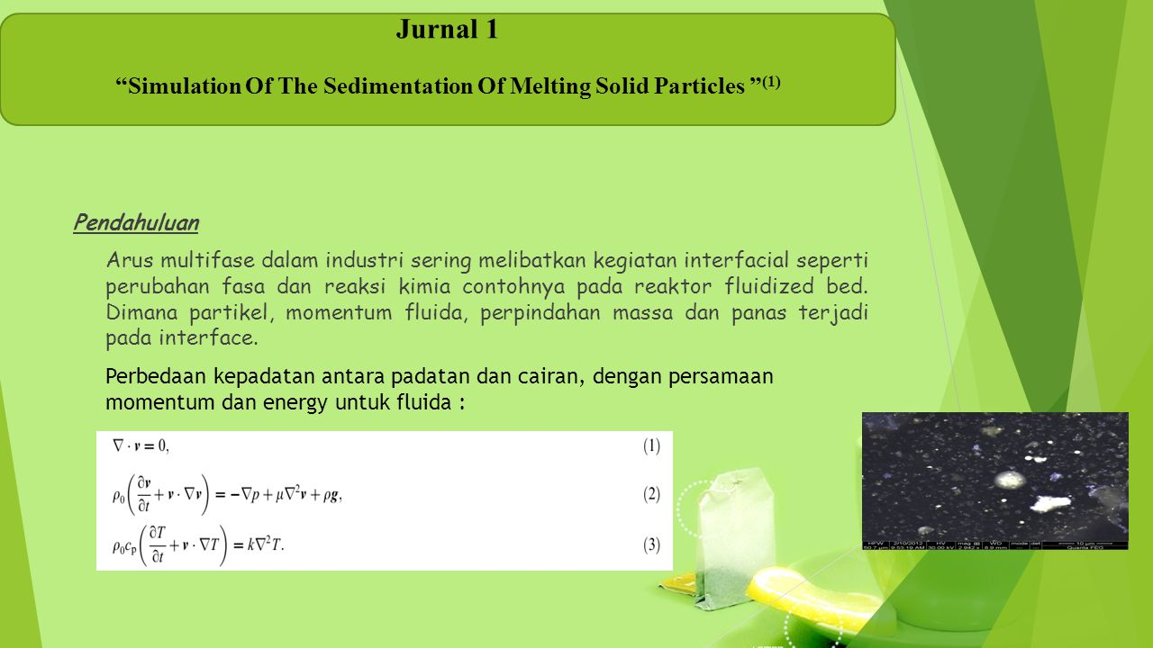 Simulation Of The Sedimentation Of Melting Solid Particles (1)