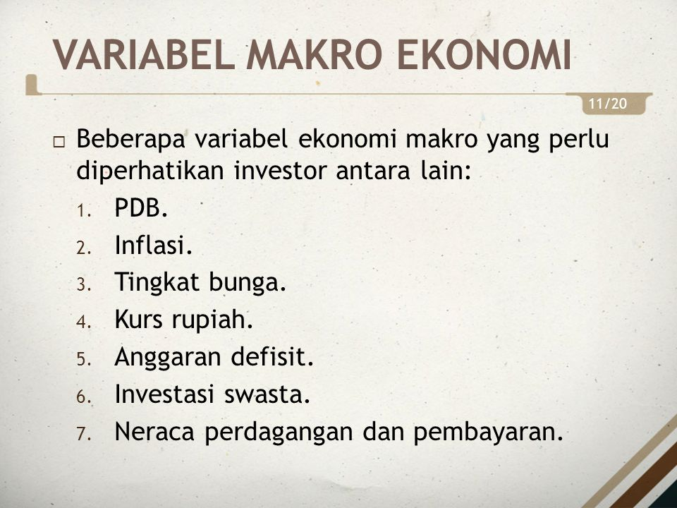 VARIABEL MAKRO EKONOMI