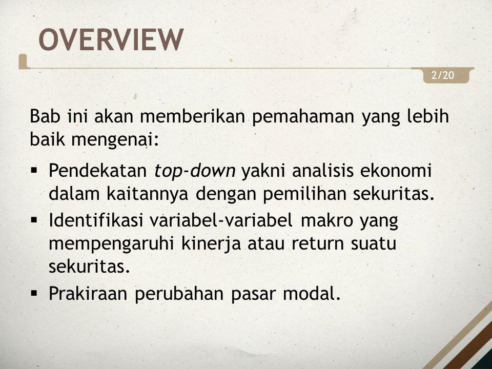 OVERVIEW Bab ini akan memberikan pemahaman yang lebih baik mengenai: