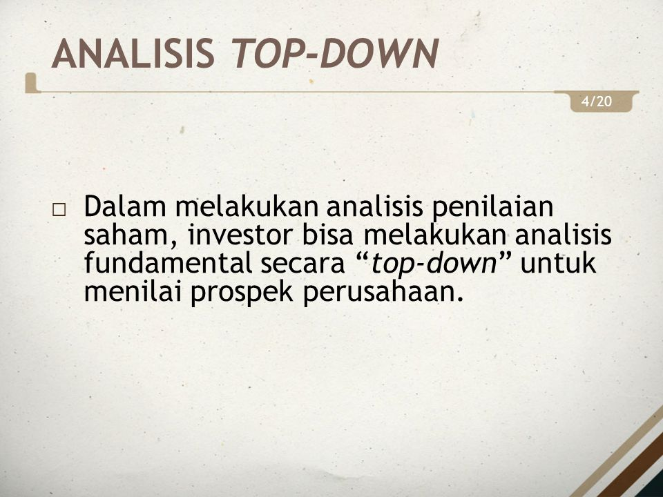 ANALISIS TOP-DOWN