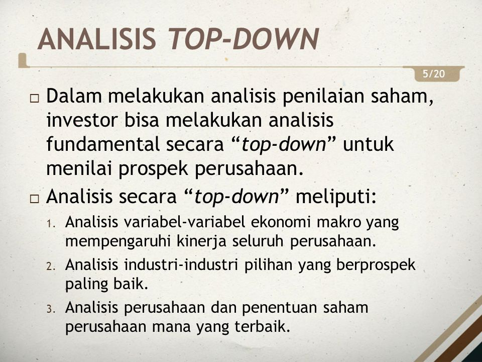 ANALISIS TOP-DOWN 5/20.
