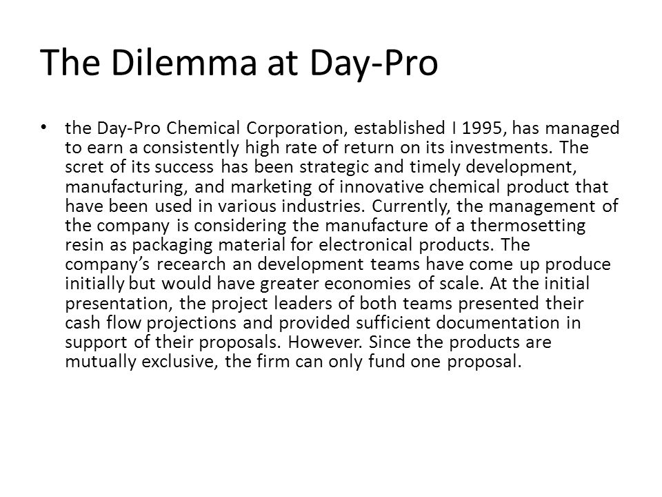 dilema at day pro