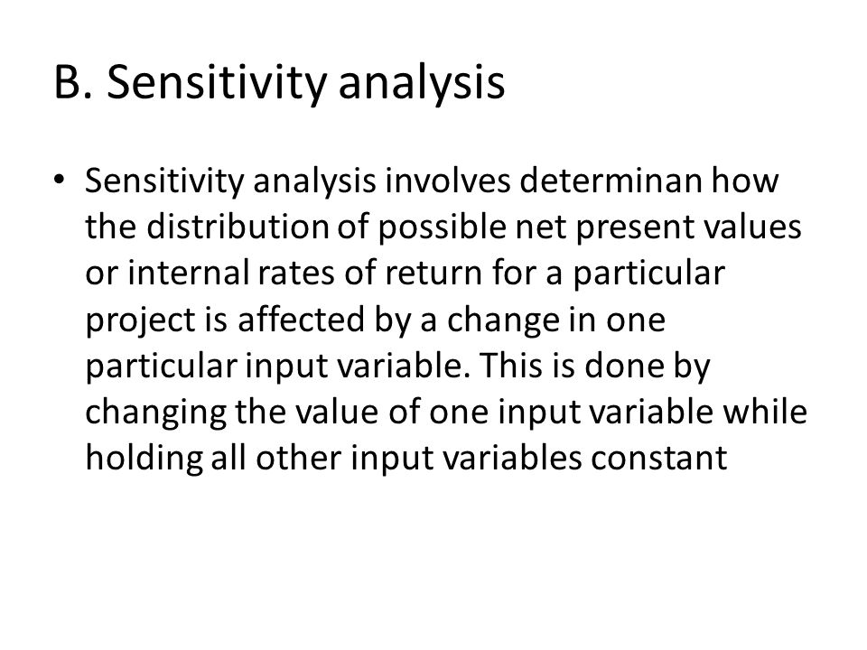 B. Sensitivity analysis