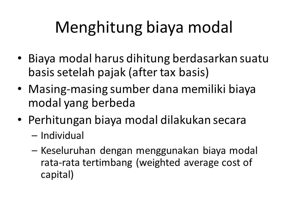 Menghitung biaya modal