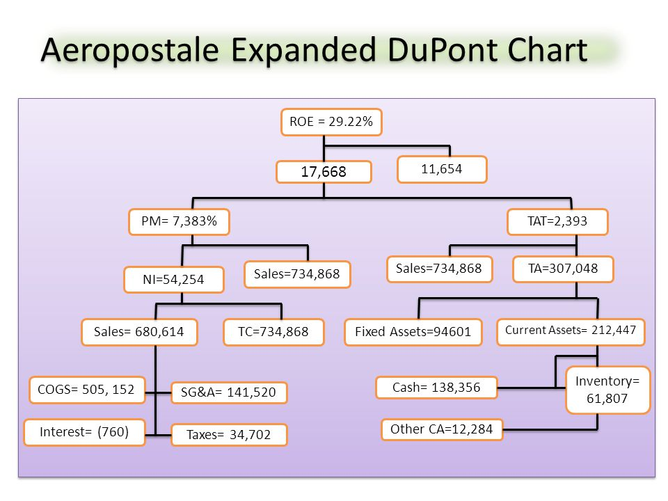 Aeropostale Expanded DuPont Chart