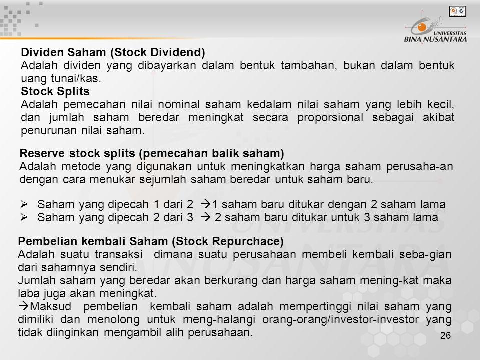 Dividen Saham (Stock Dividend)