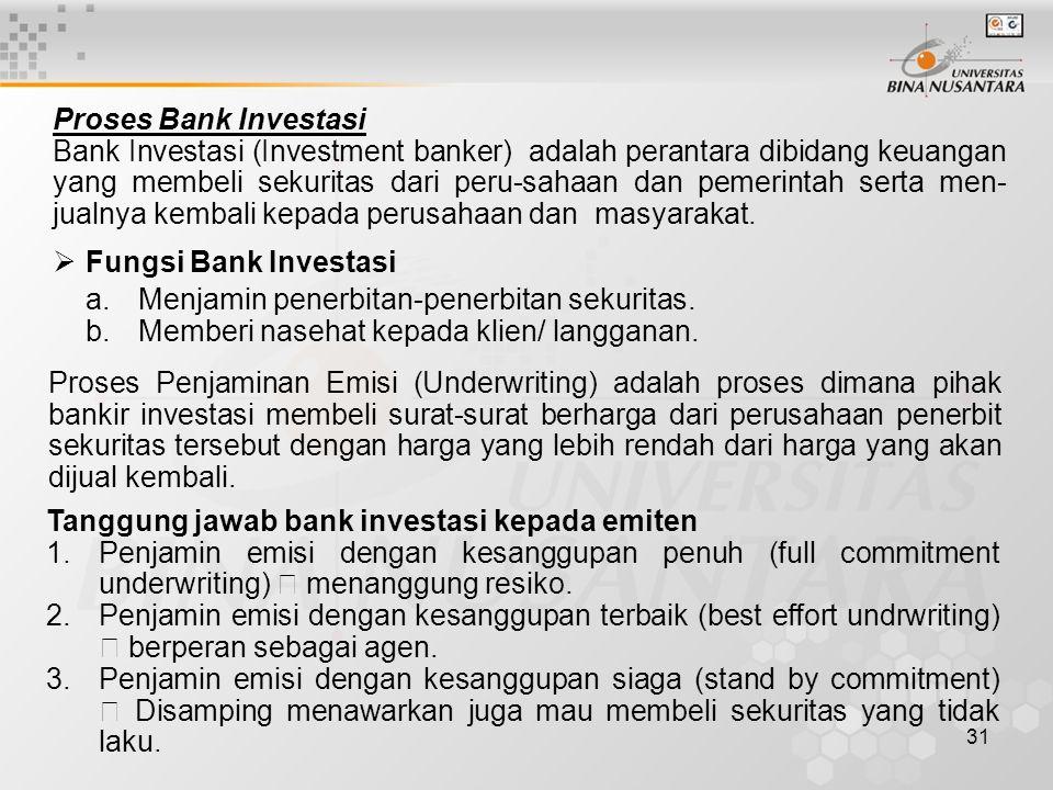 Proses Bank Investasi