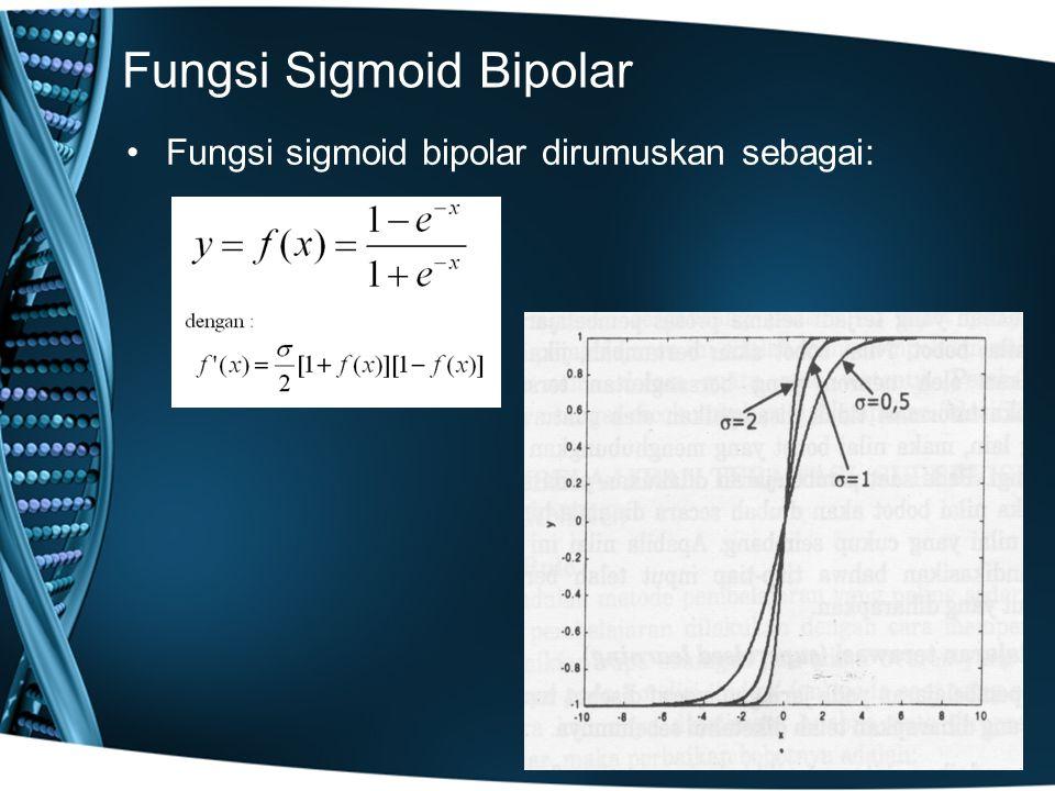 Fungsi Sigmoid Bipolar