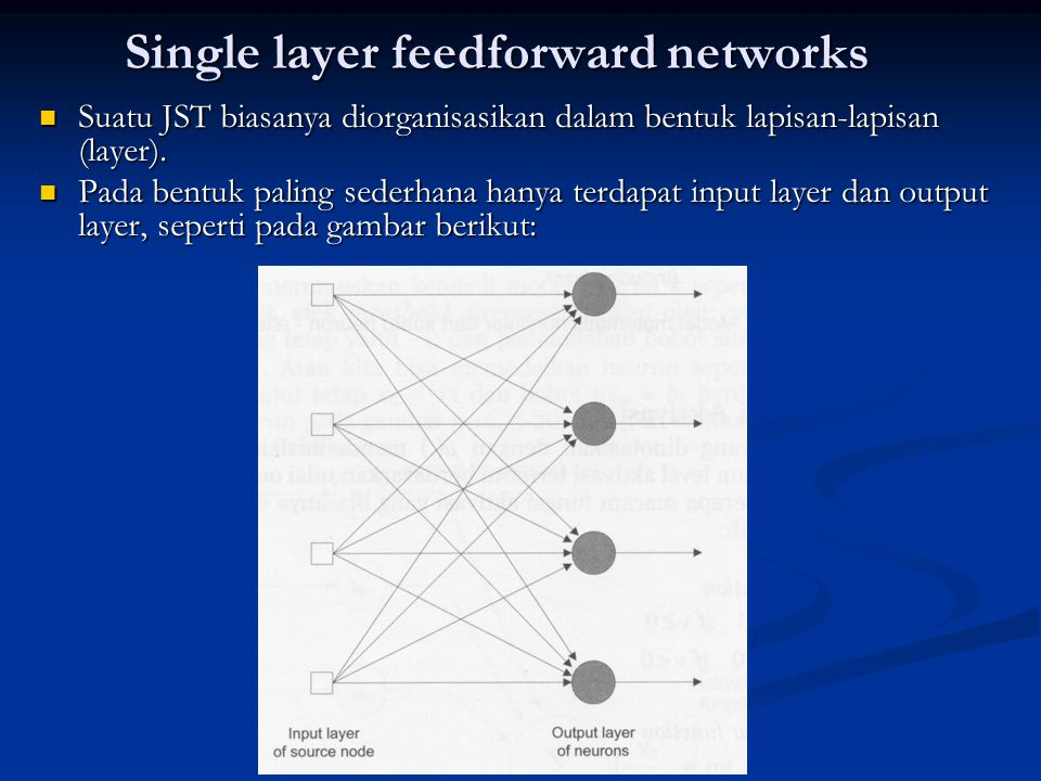 Single layer feedforward networks