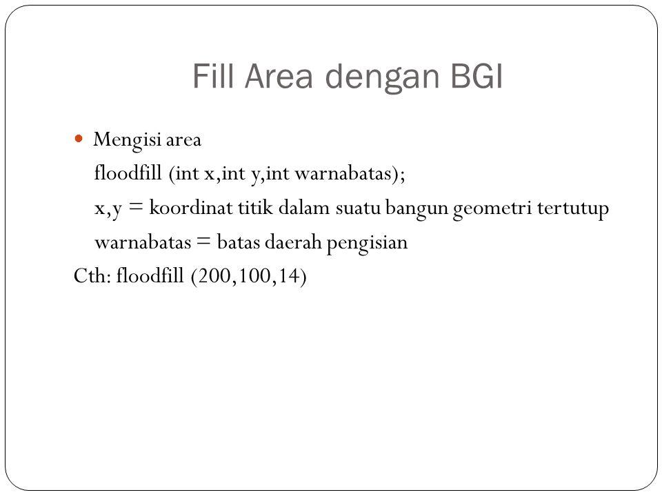 Fill Area dengan BGI Mengisi area