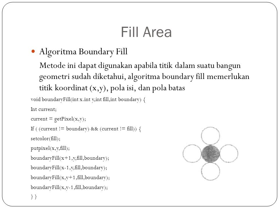 Fill Area Algoritma Boundary Fill
