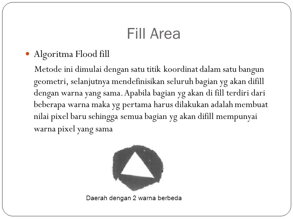Fill Area Algoritma Flood fill