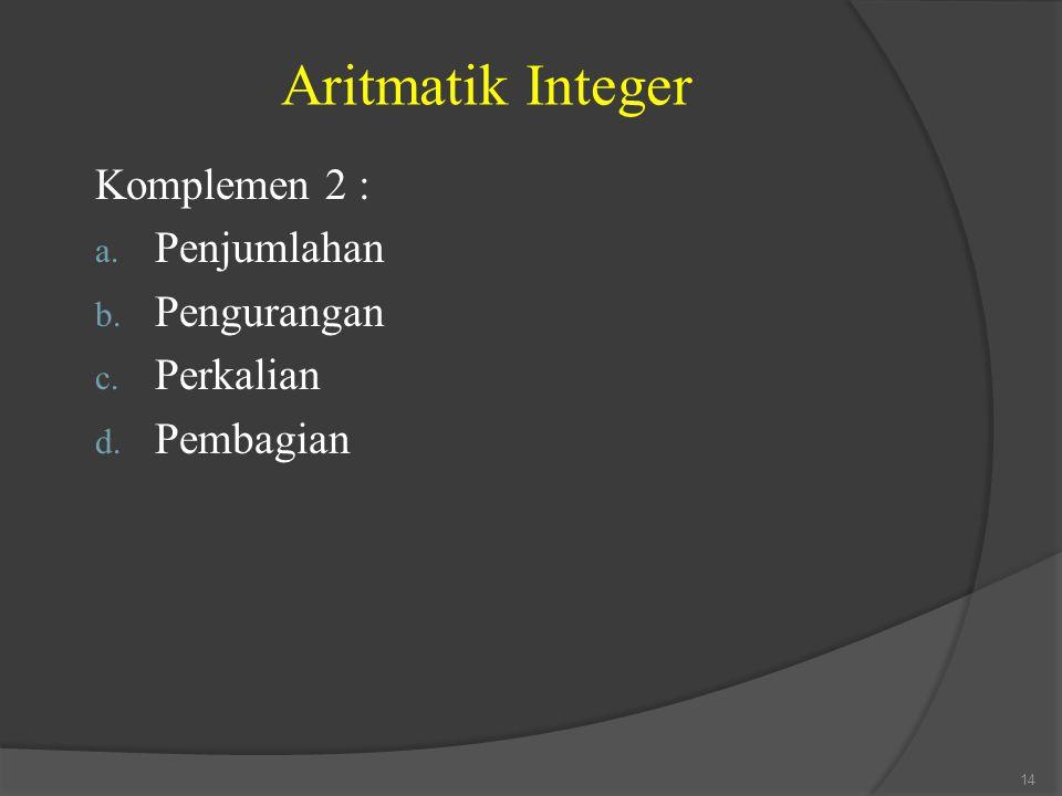 Aritmatik Integer Komplemen 2 : Penjumlahan Pengurangan Perkalian
