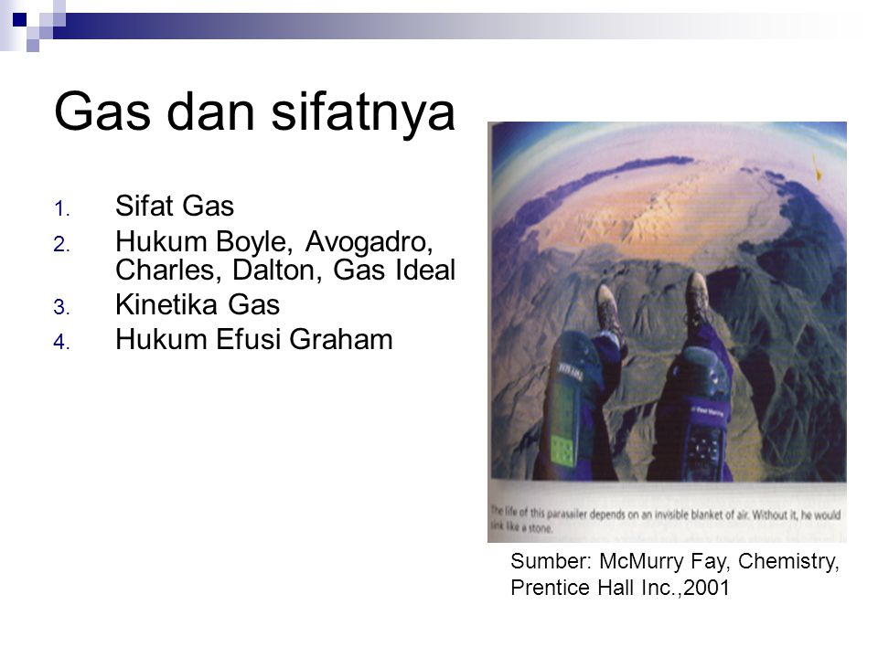 Gas dan sifatnya Sifat Gas