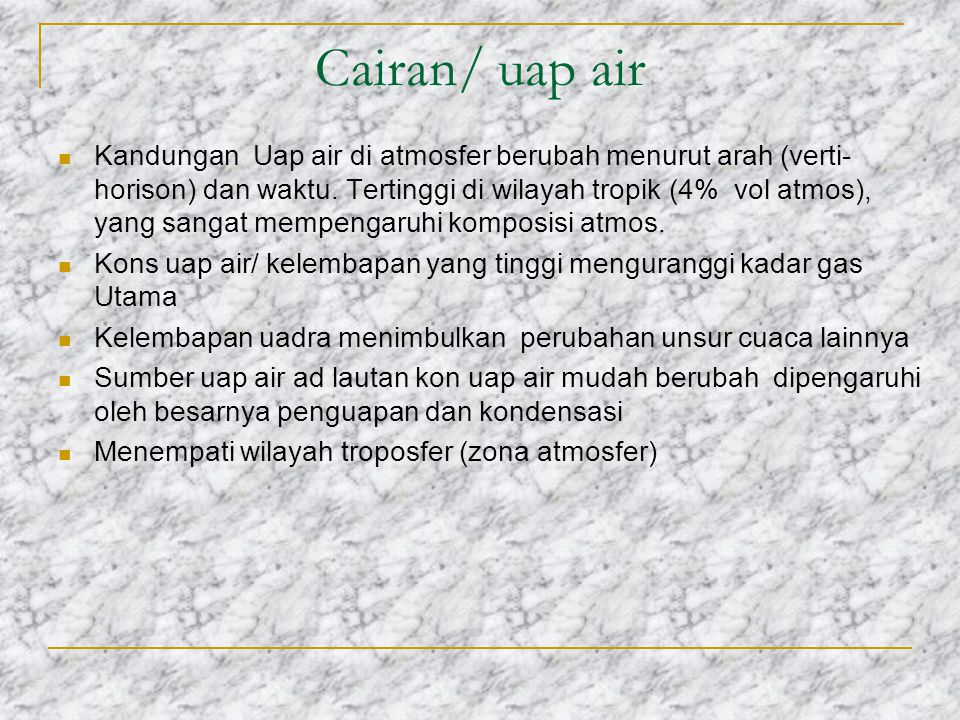 Cairan/ uap air