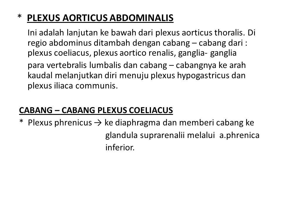 * PLEXUS AORTICUS ABDOMINALIS