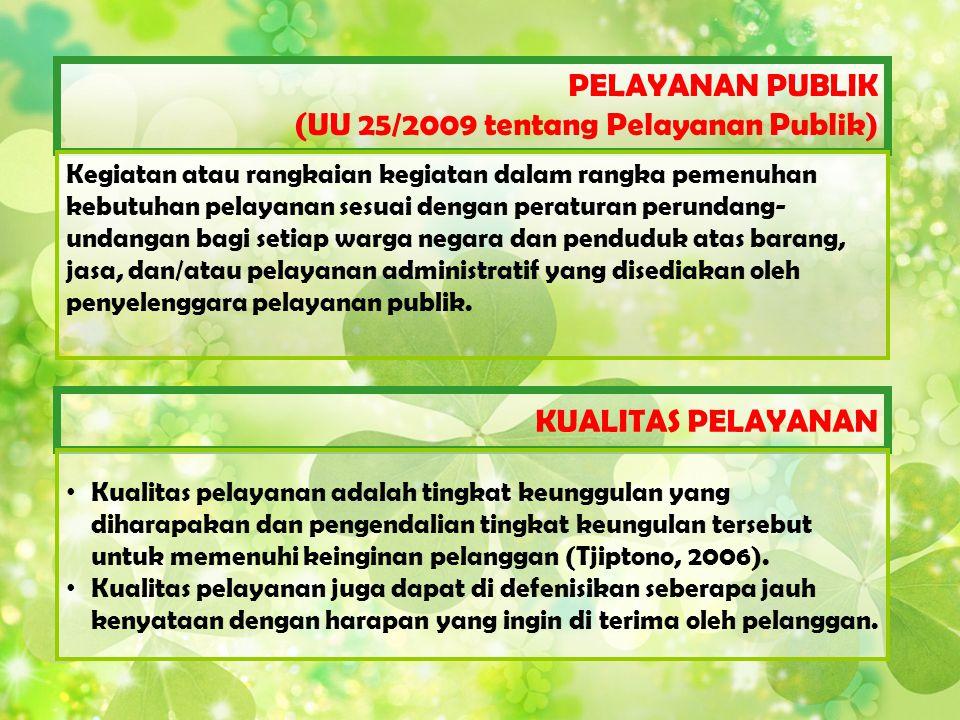 (UU 25/2009 tentang Pelayanan Publik)