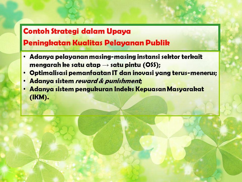 Contoh Strategi dalam Upaya Peningkatan Kualitas Pelayanan Publik