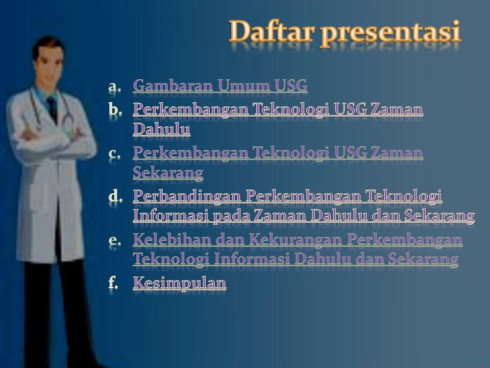 Daftar presentasi Gambaran Umum USG