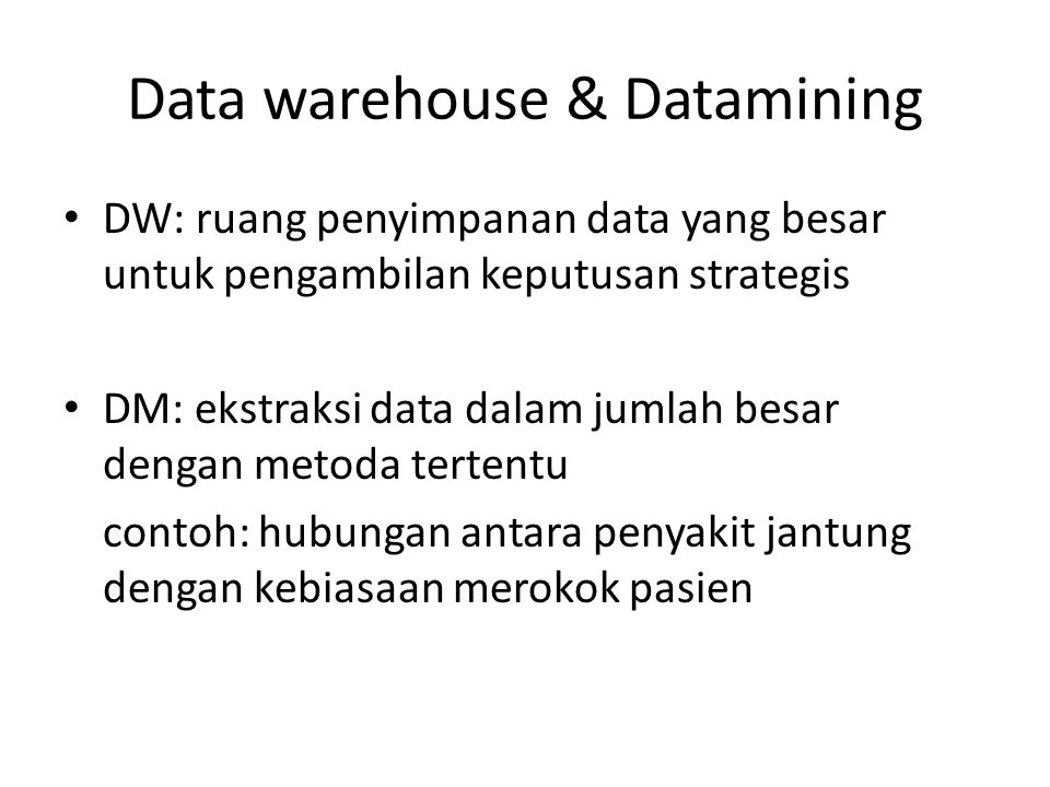 Data warehouse & Datamining