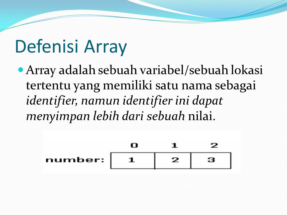 Defenisi Array