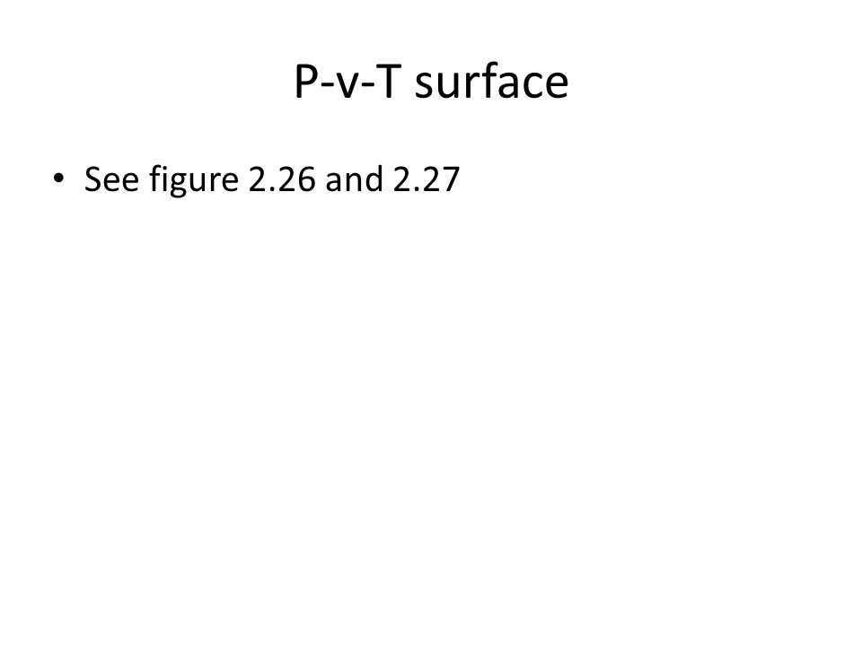 P-v-T surface See figure 2.26 and 2.27