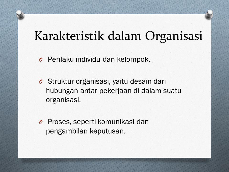 Karakteristik dalam Organisasi